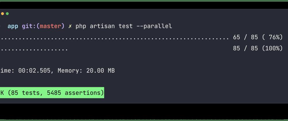 Cover image for Melhorando a performance dos seus testes em PHP/Laravel