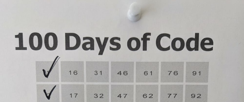 Cover image for 100 Days of Code Check Sheet