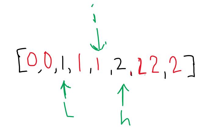 swap arr[4] with high, decrement high