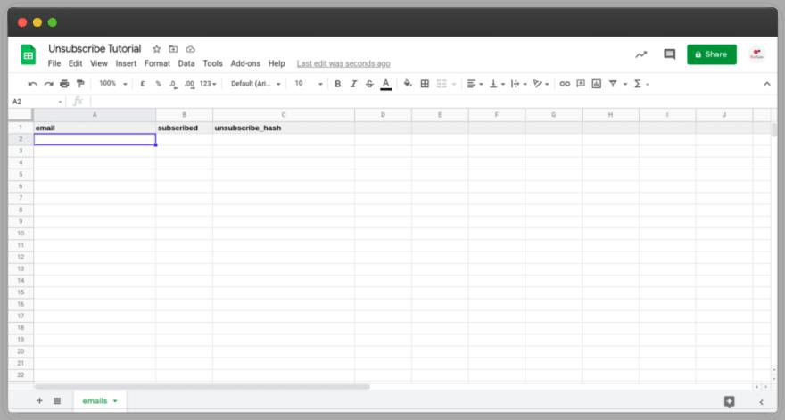 Format for Google Spreadsheet