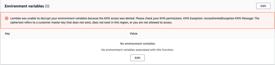 Deny KMS Decrypt in Lambda function