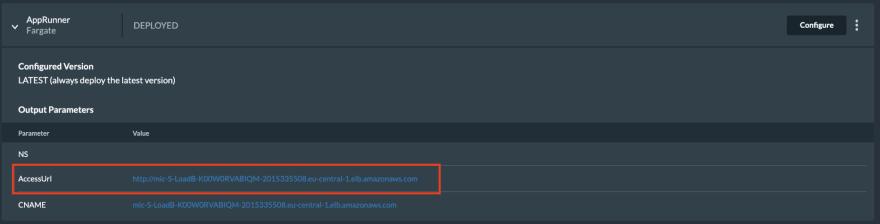 Strapi access URL