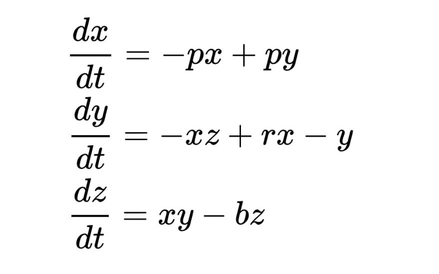Lorentz attractor equation