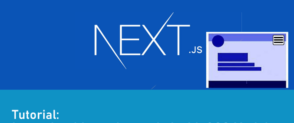 Cover image for Create a Navbar in NextJs using shared layouts and CSS modules.