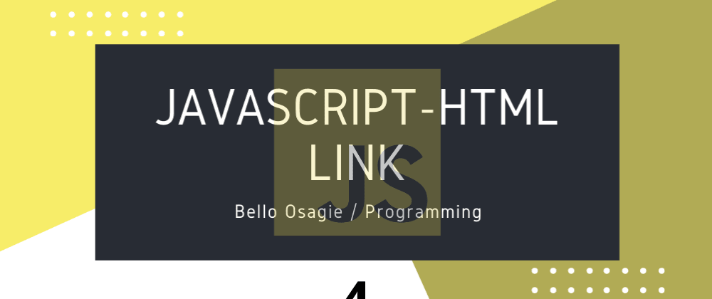 Cover image for JavaScript-HTML Link