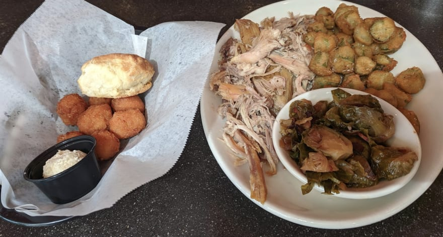 BBQ, okra, hush puppies, and other artery cloggers.