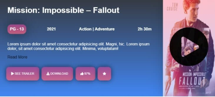 Responsive Movie Ticket using CSS