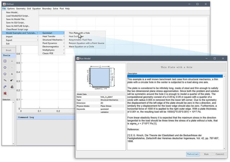 FEATool Multiphysics - Automated Physics Simulation Tutorials