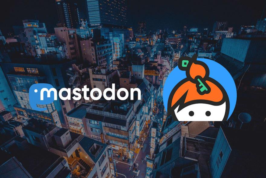 mastodon and keybase logos