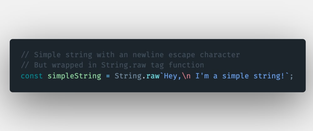 Cover image for How to show the strings in raw format using the String.raw template literals tag function in JavaScript?
