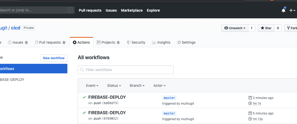 Cover image for Steps to auto Firebase deployment using GITHUB Actions (CI/CD)