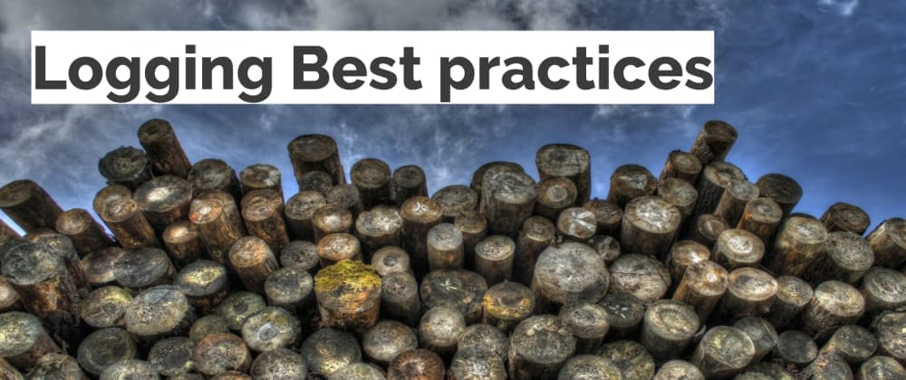 Cover image for Logging best practices to get the most out of application-level logging — Slides