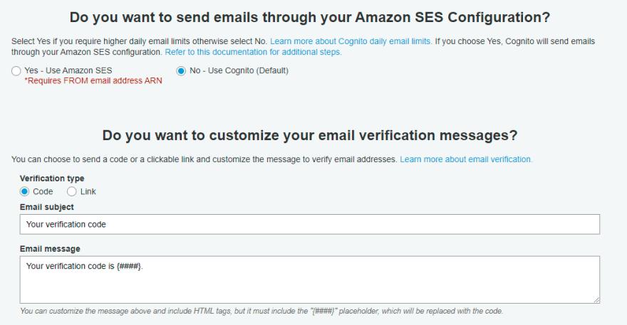Message customization