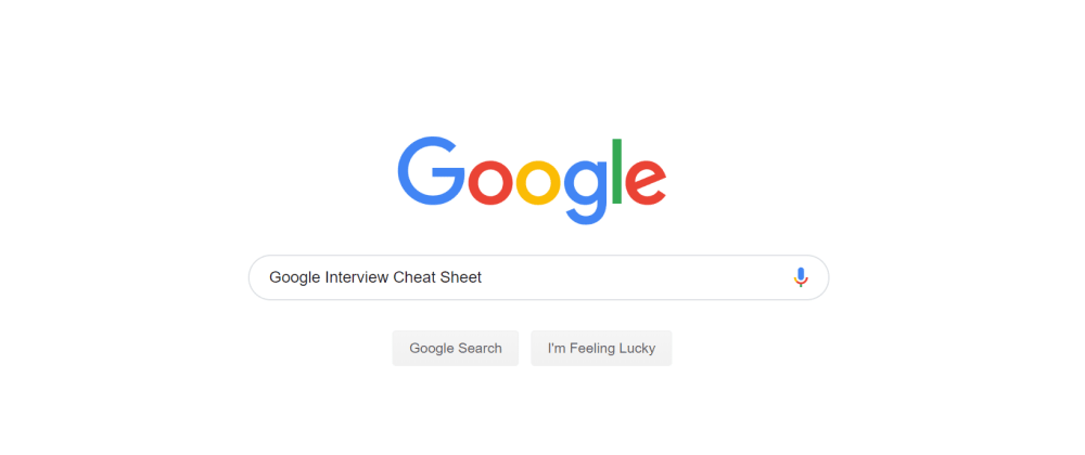 Cover image for My Google Technical Interview Cheat Sheet