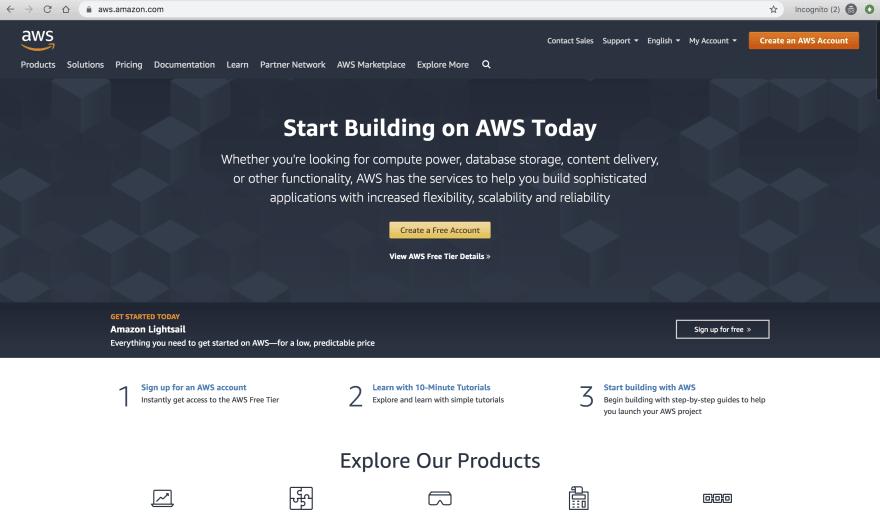 AWS Web console