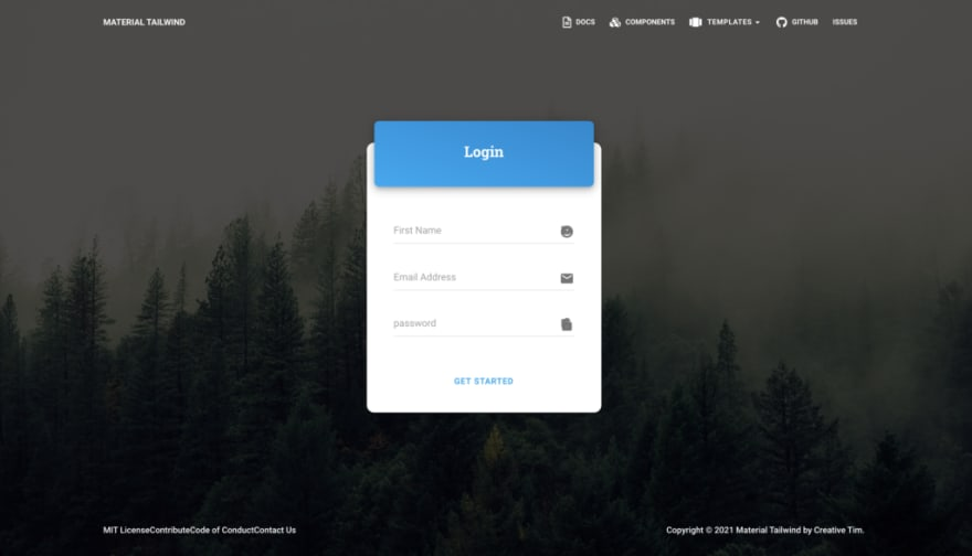 Material Tailwind – Login Page