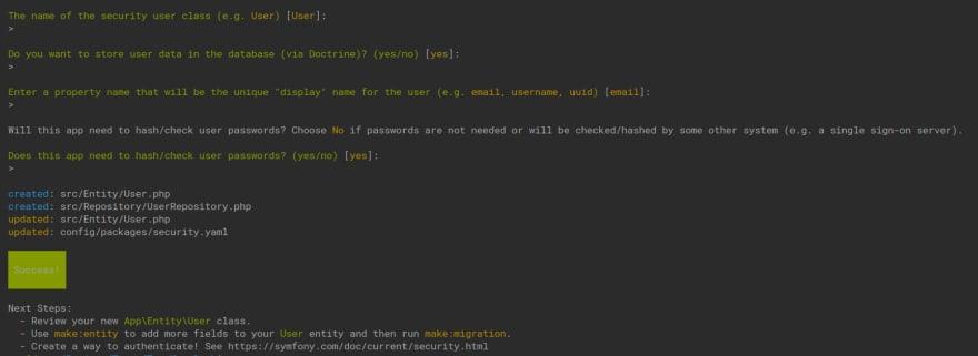 make security user