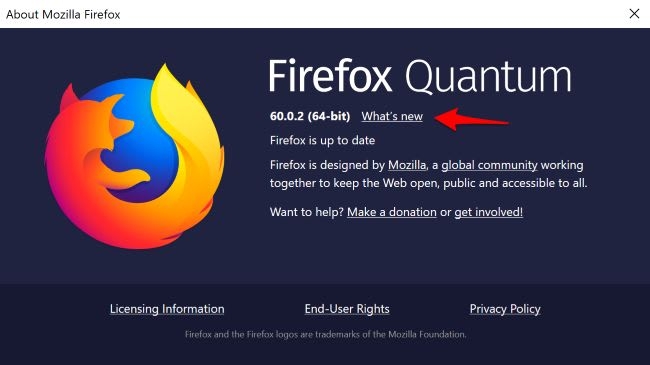 Firefox About text