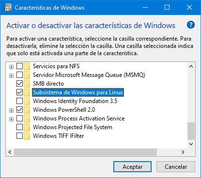 WSL option