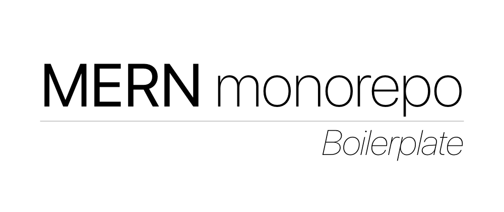 Cover image for MERN Monorepo