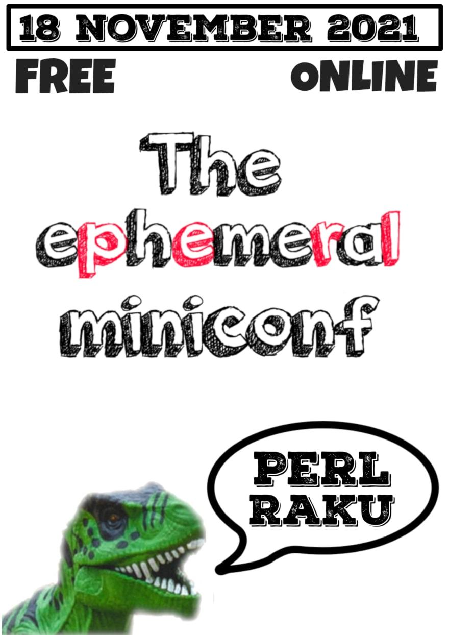 The ephemeral miniconf flyer