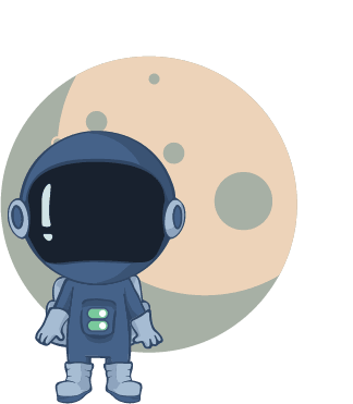 Toggle astronaut in front of moon