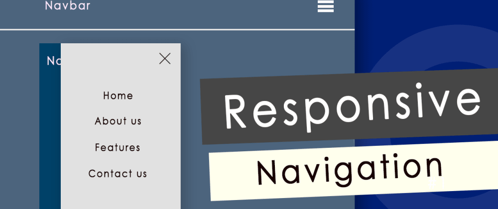 Cover image for Responsive Navbar with Bootstrap4 & Jquery