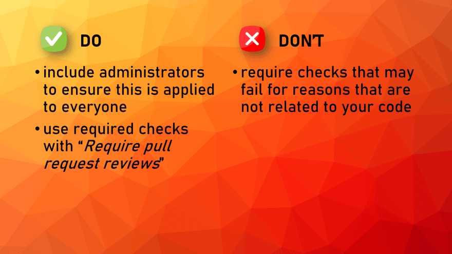 Required Checks BP