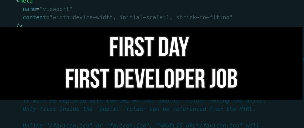 Cover image for What was your first day at your first dev job like?