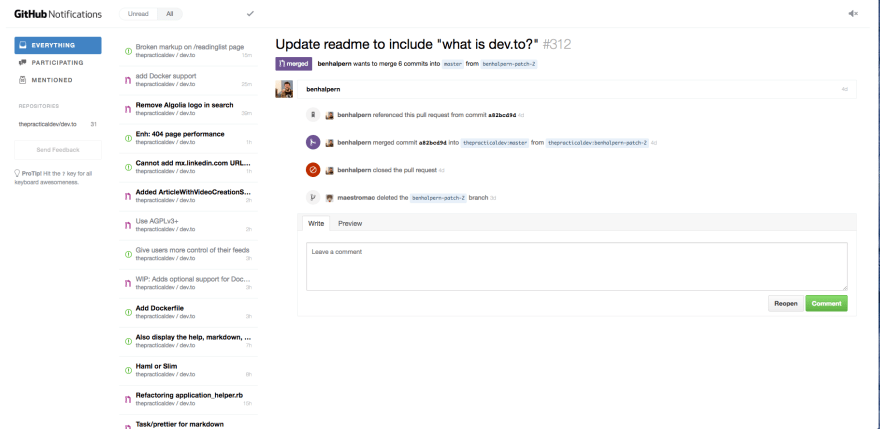 Tools I use to stay on top of Github's notifications - DEV
