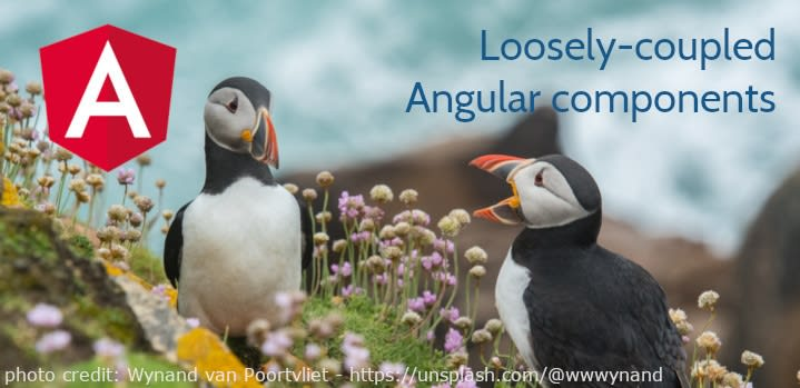 Framework Training angular components header puffins talking image