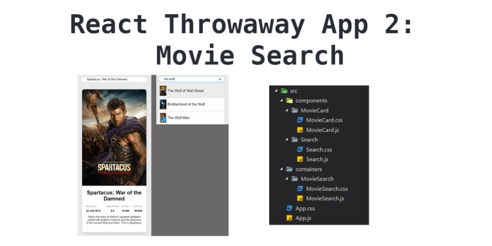 React throwaway app 2: Movie Search App - DEV Community