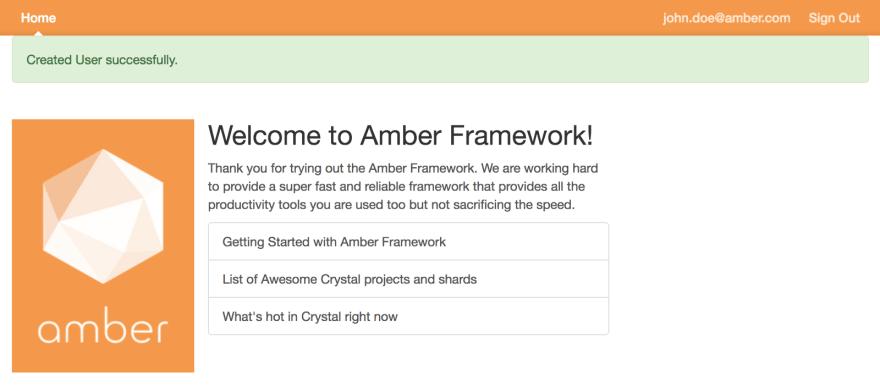 amber framework example