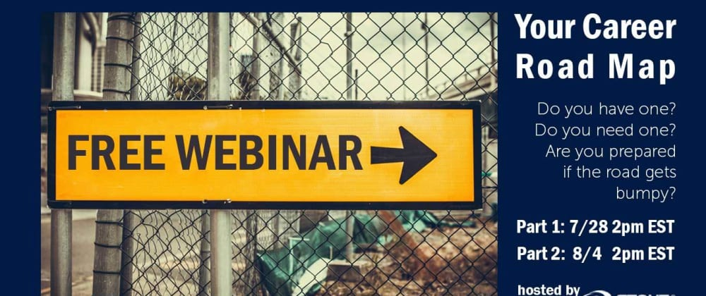 Cover image for Free Webinar series - Your Career Road Map