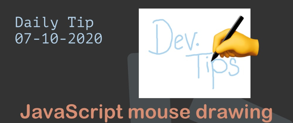 Cover image for JavaScript mouse drawing on the canvas 👨‍🎨