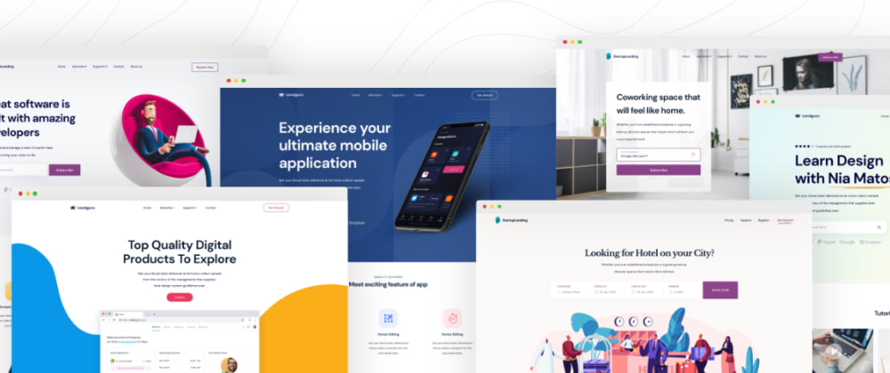 Cover image for Free React Landing Page Templates!