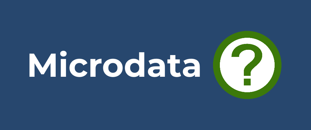 Cover image for What is Microdata?