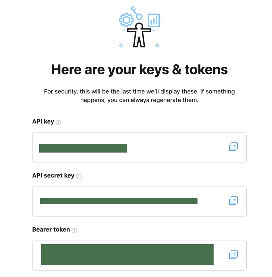 Keys and Tokens