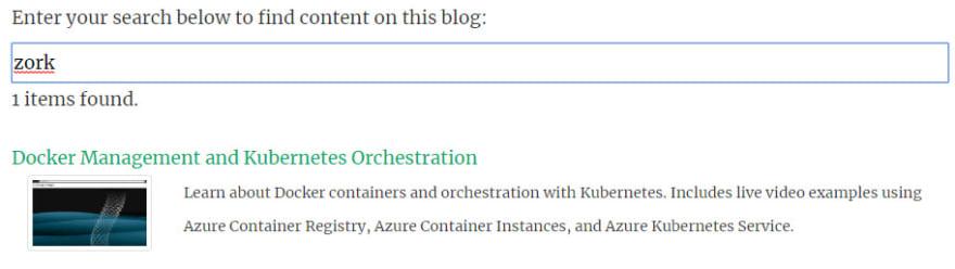 Dynamic Search in a Static Hugo Website