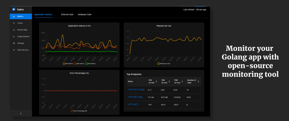 Cover image for How to set up Golang application performance monitoring with open source monitoring tool