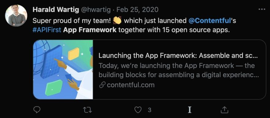 Screenshot of Harald Wartig's tweet