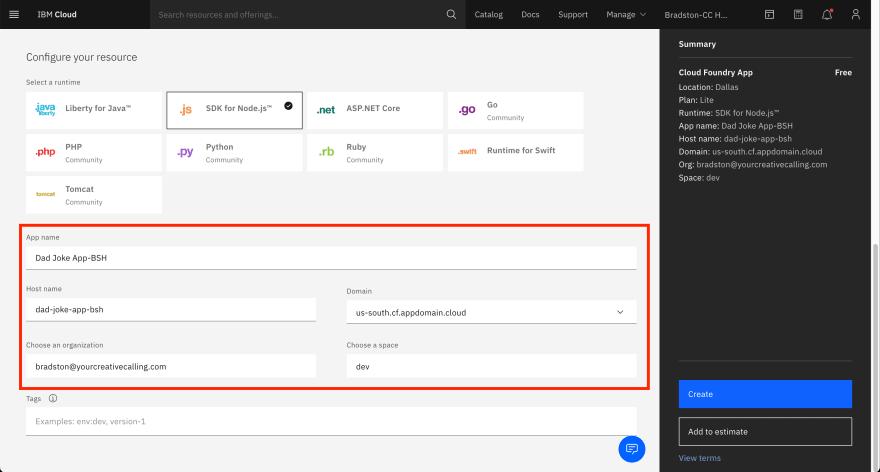 Create-Cloud-Foundry-App-Configure-Name