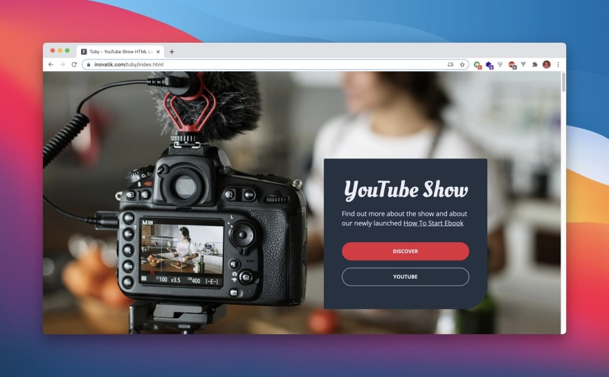 Tuby HTML Template