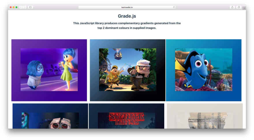 Grade homepage