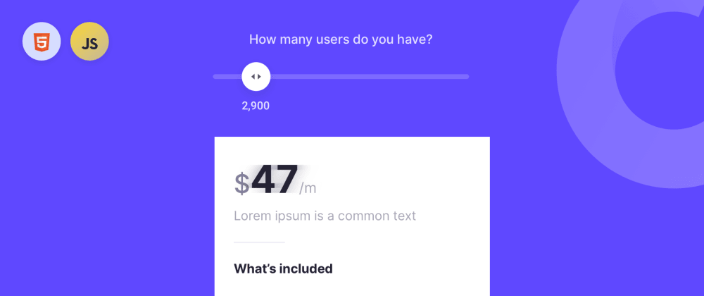 Cover image for How to build a pricing slider - HTML & Vanilla JS
