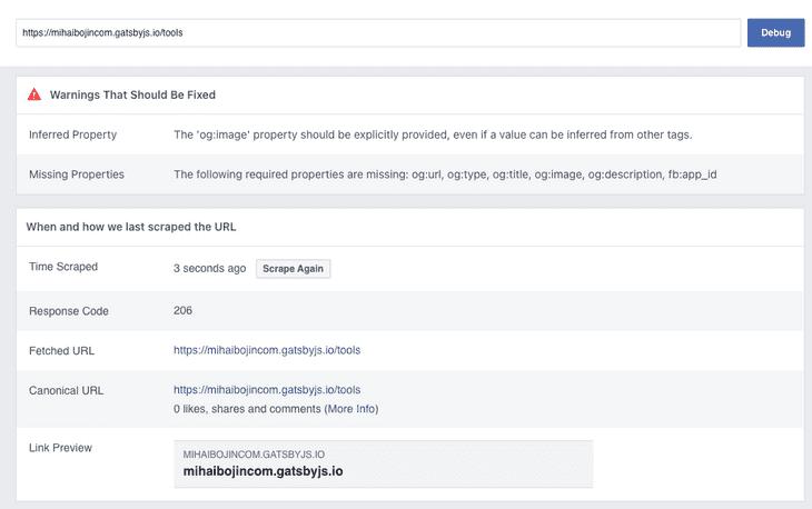 Facebook validation error