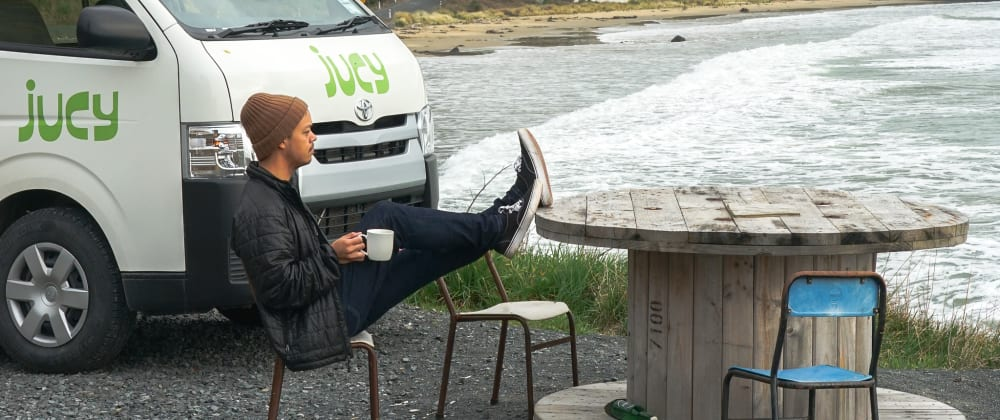 Cover image for Coding Out of a Van in New Zealand
