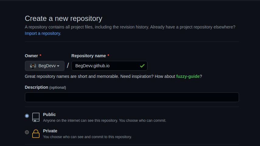 Create a Repo