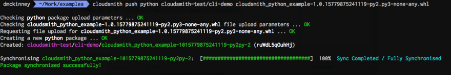 cloudsmith push python