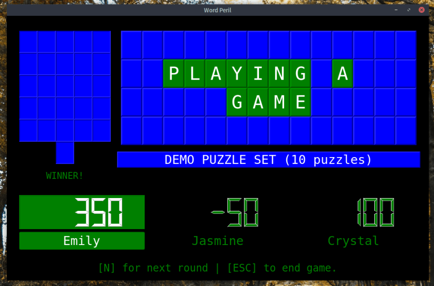 The Score Screen after a puzzle is solved.